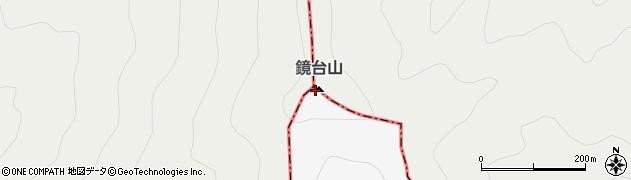 鏡台山周辺の地図