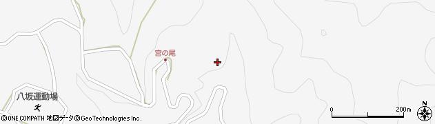 長野県大町市八坂(宮の尾)周辺の地図
