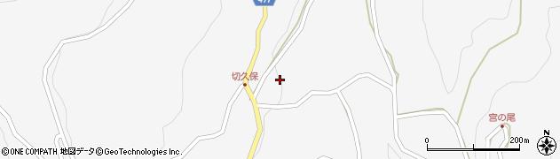 長野県大町市八坂(切久保)周辺の地図