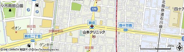 新庄周辺の地図