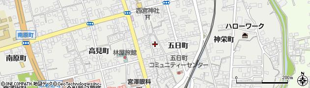 長野県大町市大町(日の出町)周辺の地図