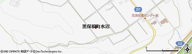 群馬県桐生市黒保根町水沼周辺の地図