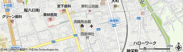 長野県大町市大町(八日町)周辺の地図