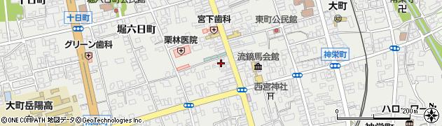 長野県大町市大町(下仲町)周辺の地図