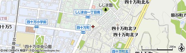 石川県金沢市四十万町(北チ)周辺の地図