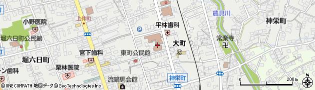 長野県大町市大町(東町)周辺の地図