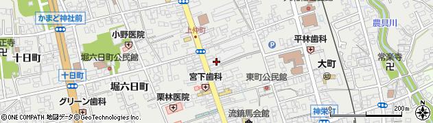 長野県大町市大町(上仲町)周辺の地図