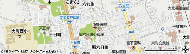 大沢寺周辺の地図