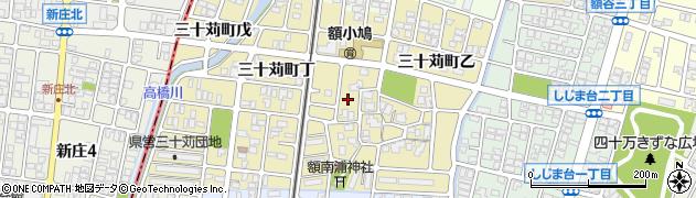 石川県金沢市三十苅町周辺の地図