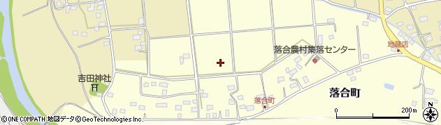 茨城県常陸太田市落合町周辺の地図