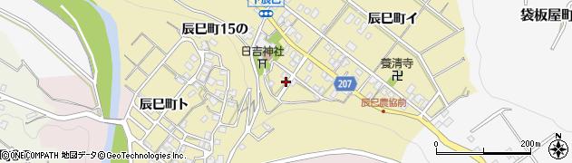 石川県金沢市辰巳町周辺の地図