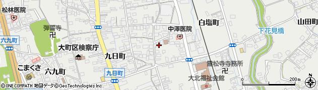 長野県大町市大町(白塩町)周辺の地図