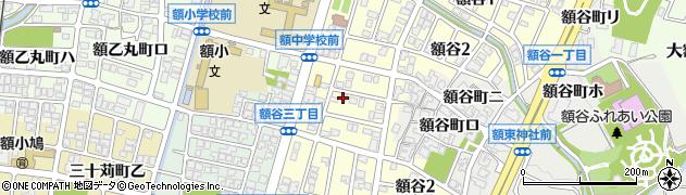 石川県金沢市額谷周辺の地図