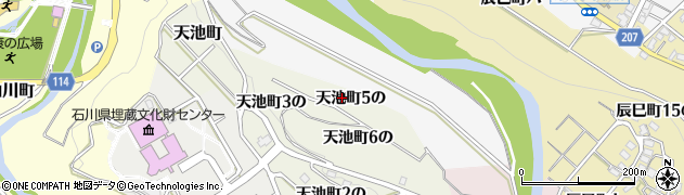 石川県金沢市天池町(5の)周辺の地図