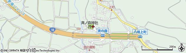 長野県千曲市八幡(上町)周辺の地図