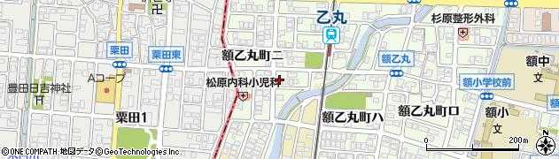 石川県金沢市額乙丸町(ニ)周辺の地図