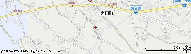 長野県大町市大町(宮田町)周辺の地図