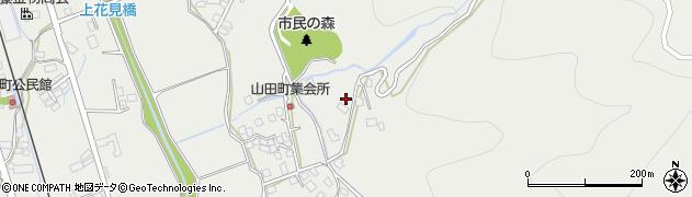 長野県大町市大町(山田町)周辺の地図