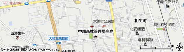 長野県大町市大町(大黒町)周辺の地図