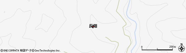 長野県大町市八坂(長畑)周辺の地図
