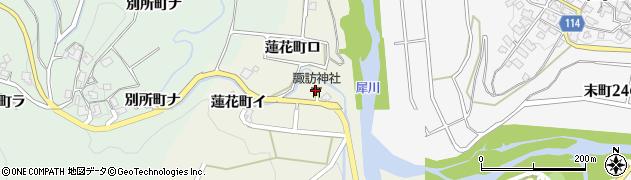 諏訪神社周辺の地図
