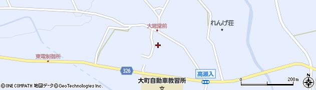 長野県大町市平(大出)周辺の地図