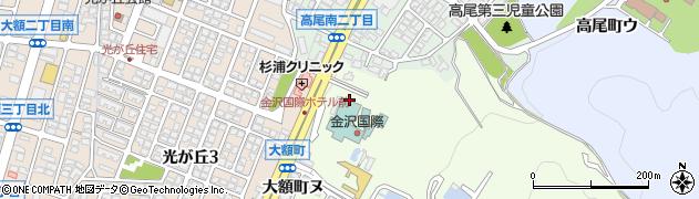 石川県金沢市大額町(ル)周辺の地図