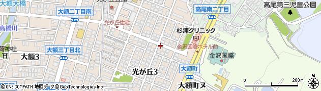 石川県金沢市光が丘周辺の地図