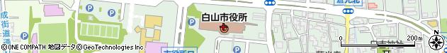 石川県白山市周辺の地図