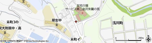 石川県金沢市上辰巳町(10の)周辺の地図