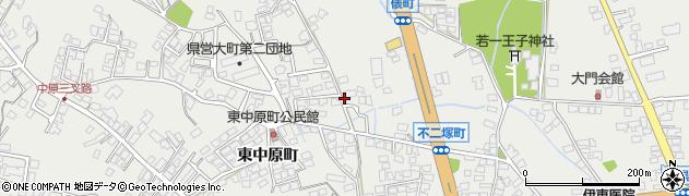 長野県大町市大町周辺の地図