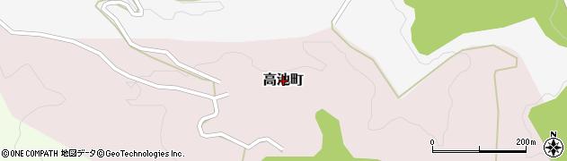 石川県金沢市高池町周辺の地図