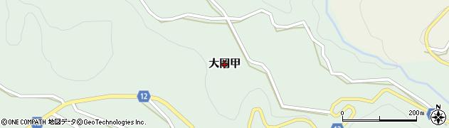 長野県長野市大岡甲周辺の地図