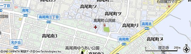 石川県金沢市高尾町(レ)周辺の地図