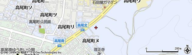 石川県金沢市高尾町周辺の地図