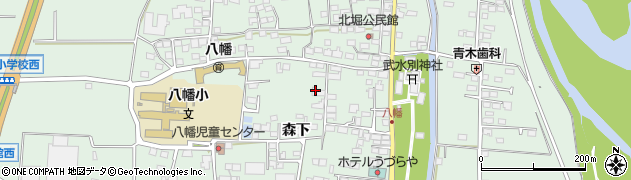 長野県千曲市八幡(森下)周辺の地図