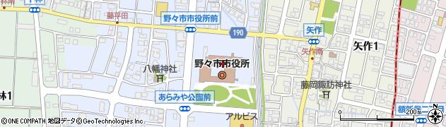 石川県野々市市周辺の地図