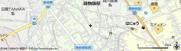 長野県千曲市鋳物師屋周辺の地図
