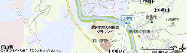 石川県金沢市銚子町周辺の地図