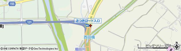 さつきロード入口周辺の地図