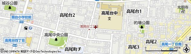 石川県金沢市高尾台周辺の地図