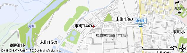 石川県金沢市末町(14の)周辺の地図