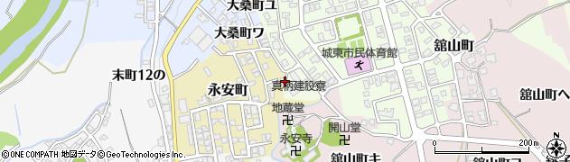 石川県金沢市永安町周辺の地図