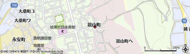 石川県金沢市舘山町周辺の地図