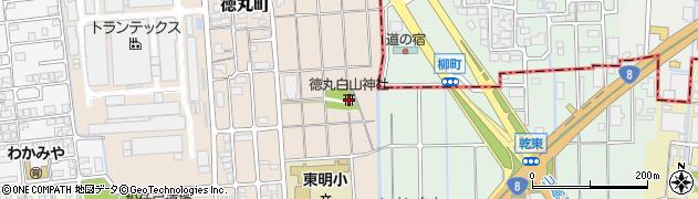 徳丸白山神社周辺の地図