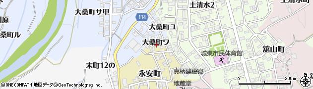 石川県金沢市大桑町(ワ)周辺の地図