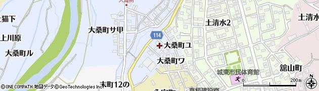 石川県金沢市大桑町(サ乙)周辺の地図