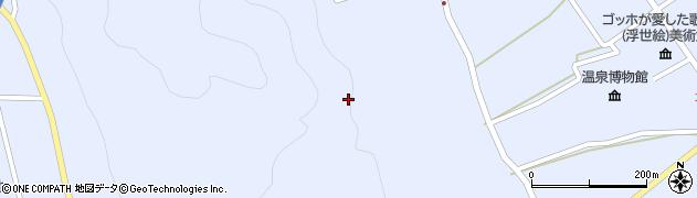 長野県大町市平(犬の窪)周辺の地図