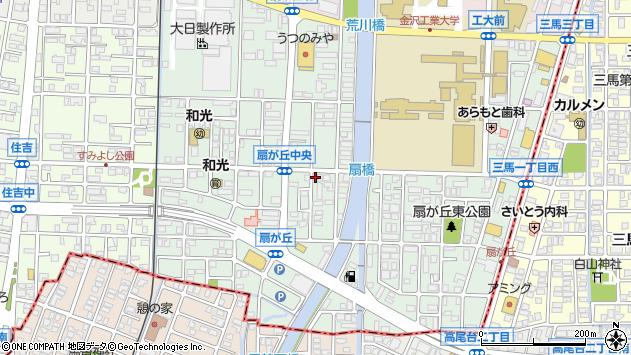〒921-8812 石川県野々市市扇が丘の地図