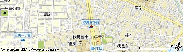 伏見台小前周辺の地図
